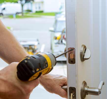 locksmith installing lock in belfast
